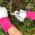 Premier pour femme à manches longues Gants de jardinage–Thorn Proof Cuir de chèvre et vache Gauntlet–Idéal pour toutes les tâches de jardin (d'élagage au désherbage)–Cadeau de jardin Idéal pour femme de la marque Flower Power User Friendly Tools image 1 produit