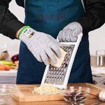 qayan Paire de gants anti coupures - Protection de niveau 5 conforme à la norme EN 388 - Parfait protection contre les coupures du quotidien (cuisine, jardinage, bricolage) (l) de la marque qayan image 2 produit