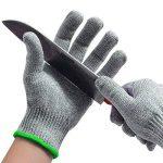 qayan Paire de gants anti coupures - Protection de niveau 5 conforme à la norme EN 388 - Parfait protection contre les coupures du quotidien (cuisine, jardinage, bricolage) (l) de la marque qayan image 4 produit