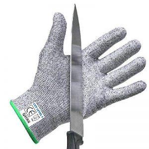qayan Paire de gants anti coupures - Protection de niveau 5 conforme à la norme EN 388 - Parfait protection contre les coupures du quotidien (cuisine, jardinage, bricolage) (l) de la marque qayan image 0 produit