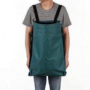 Qees Garden Tablier grand sac de Cueillette Heavy Duty Oxford Chiffon de cuisine Harvest/désherbage Smock Sac Vert poches de rangement pour fruits/légumes Taille réglable pour homme/femme Gjb45 de la marque QEES image 0 produit