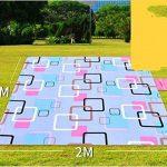 QXWL 200x200cm couverture de pique-nique de coton de polyester avec support imperméable à l'eau - léger couverture de pique-nique compacte de voyage - tapis de camping extérieur mat de pelouse de paillis de tapis de plage de la marque QXWL image 2 produit