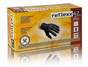 Reflexx R67/XXL sans poudre Gants en nitrile gr 5.5, taille XXL, Noir (Lot de 100) de la marque image 0 produit