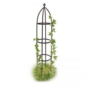 Relaxdays Obélisque de jardin support tuteur forme colonne pour plantes grimpantes 190 cm de la marque Relaxdays image 0 produit