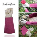 Rose d'élagage Gants de jardinage pour homme et femme, Thornproof longue Manique, gants en peau Cuir–respirant et durabilité de la marque HANDLANDY image 1 produit