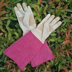 Rose d'élagage Gants de jardinage pour homme et femme, Thornproof longue Manique, gants en peau Cuir–respirant et durabilité de la marque HANDLANDY image 6 produit