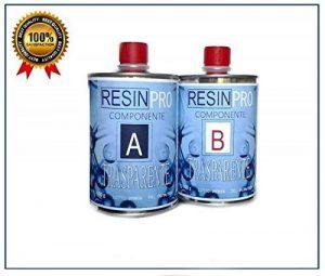 Résine époxy transparente, 800g, bicomposant A + B, super transparent effet eau, pour créations transparentes, résine pour bijoux, moules de la marque Resin Pro image 0 produit