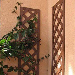 Set de 2 treillis en BOIS COMPOSITE 1x0,25 m. Couleur bois naturel. Marque: B Cottage de la marque Botanyland image 0 produit