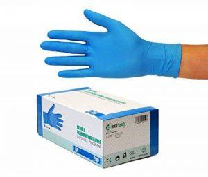 SF Gants jetables en nitrile boite de 200 gants examen (Taille M, Bleu) sans latex, non poudrés, cuisine, Ménage, alimentaire, bricolage, Tatoueur Mécanicien Médical de la marque SF Medical Products GmbH image 0 produit