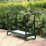 SONGMICS Siège Repose-genoux de Jardin Pliable en Acier Tube en Mousse EVA Coussinet de Genoux tabouret jardinage(59 x 27 x 48 cm) GGK01G de la marque SONGMICS image 2 produit