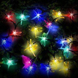 SPV Lights guirlande lumineuse solaire avec 30 LED multicolores en forme de libellule de la marque SPV-Lights image 0 produit