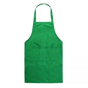 Tablier de Cuisine - Tablier avec Poche Unisexe Style de adulte sans Manches pour Boucheries Chefs Craft Cuisson Serveur Vert de la marque juqilu image 0 produit