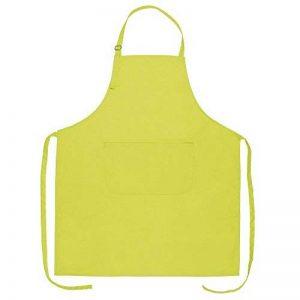 Tablier pour barbecue - 100 % coton - 70 x 85 cm - Avec sangles de cou réglables et poche avant citron vert de la marque eBuyGB image 0 produit