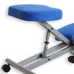 Tabouret ergonomique ROBERT aluminium/bleu de la marque IDIMEX image 3 produit