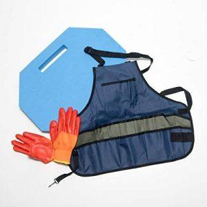 Tapis repose-genoux polyvalent Garden Mixtitude - Durable et léger – Dimension : 38cm x 8cm x 5cm - livré avec un tablier de jardinage et une paire de gants de la marque Mixtitude image 0 produit