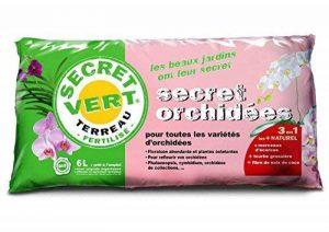 Terreau Orchidée UAB, le plus naturel pour le fleurissement de vos orchidées - Taille - 6 L de la marque Secret Vert image 0 produit