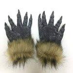 thematys® Mauvais loup avec masque de gants de griffe - parfait pour le carnaval, Halloween et carnaval - Costume adulte - latex, unisexee taille unique de la marque thematys® image 3 produit