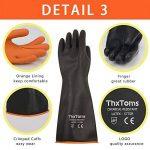 Thxtoms Heavy Duty Gants en latex, Résistent à fortes Acide, Alcalins et d'huile, noir de la marque ThxToms image 3 produit