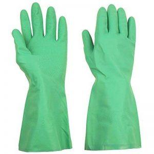 Thxtoms Ménage Gants en nitrile, efficacement résistant à l'huile, acide, Alcalins et solvant, vert de la marque ThxToms image 0 produit