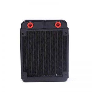 Tiptiper Échangeur de chaleur de refroidisseur d'eau radiateur en aluminium 18 dissipateur de chaleur d'unité centrale Échangeur de chaleur de processeur pour l'ordinateur 120mm de la marque Tiptiper image 0 produit