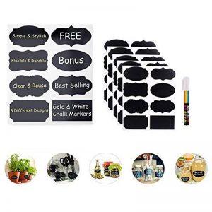 Étiquettes Ardoise avec Pen Chalkboard Labels Kit 40 pcs autocollant bricolage Labels prime Stickers amovible réutilisable de la marque Novetech image 0 produit