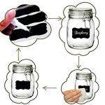 Étiquettes Ardoise avec Pen Chalkboard Labels Kit 40 pcs autocollant bricolage Labels prime Stickers amovible réutilisable de la marque Novetech image 1 produit