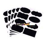 Étiquettes Ardoise avec Pen Chalkboard Labels Kit 40 pcs autocollant bricolage Labels prime Stickers amovible réutilisable de la marque Novetech image 3 produit