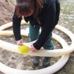 Tuyau de drainage perforé jaune, diamètre DN50, longueur 10m + gaine de filtration, longueur 10m, filtre F50- Kit professionnel de la marque Setaflex image 3 produit