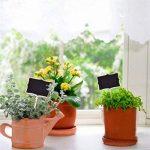 Ultnice 10pcs Mini tableau noir pour enfants rectangle Tableau noir pour message Board Sign Plante Médaille pour Home Garden de la marque ULTNICE image 2 produit
