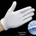 Umsole Lot de 10paires de gants de protection fins, doux et légers en coton avec élastique Idéal pour manipuler pièces de monnaie et bijoux Taille L, blanc de la marque Umsole image 2 produit