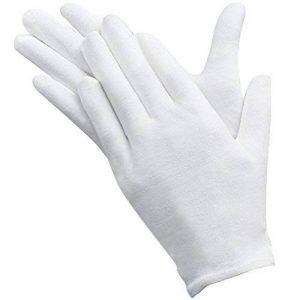 Umsole Lot de 10paires de gants de protection fins, doux et légers en coton avec élastique Idéal pour manipuler pièces de monnaie et bijoux Taille L, blanc de la marque Umsole image 0 produit