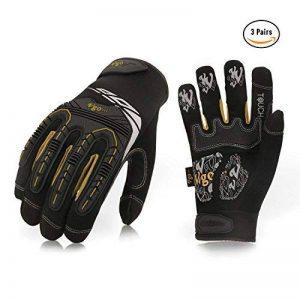 Vgo Glove Gants mécaniciens à haute dextérité, Gants de Travail, pour Rigger, anti-Vibration, anti-Abrasion, Ecran tactile, Articulation TPR, Rembourrage EVA, (3 paires, 8/M & 9/L & 10/XL de la marque Vgo… image 0 produit