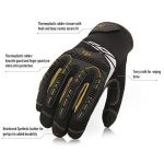 Vgo Glove Gants mécaniciens à haute dextérité, Gants de Travail, pour Rigger, anti-Vibration, anti-Abrasion, Ecran tactile, Articulation TPR, Rembourrage EVA, (3 paires, 8/M & 9/L & 10/XL de la marque Vgo… image 2 produit