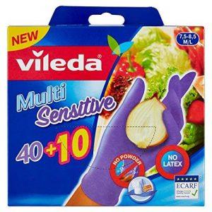 Vileda 50 Gants Jetables Nitriles Multi Sensitive Taille M/L de la marque Vileda image 0 produit