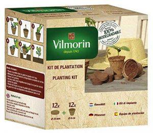 Vilmorin 3990624 Pack de 12 Godets Coco 6 cm + 12 Pastilles Fibre de Coco Compressée de la marque Vilmorin image 0 produit