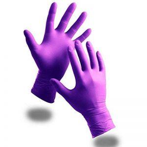 Violet 100x Extra Fort sans poudre Gants jetables en nitrile–Stylo anti-bactérien TCH offert., violet de la marque The Chemical Hut image 0 produit