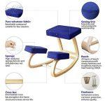Vogvigo Chaise ergonomique à genoux,Les enfants en bois apprennent des chaises Chaise de correction de posture vertébrale Conçu pour les courbures et les courbures de dos extensibles soulagent l'équilibre amélioré,Bureau / Ordinateur / Jeu / Accueil Knee image 4 produit