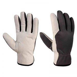 Xclou Gants de travail résistants en nylon anti coupure M - Gants de jardinier pour homme et pour femme - Gants de manutention en cuir renforcé taille 8 de la marque Xclou image 0 produit